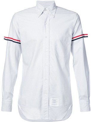 Thom Browne RWB grosgrain band striped shirt