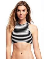 Old Navy Lace-Back High-Neck Swim Top for Women