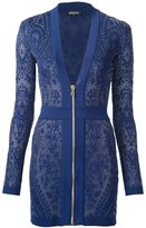 Balmain zipped knit mini dress - women - Polyamide/Viscose - 36