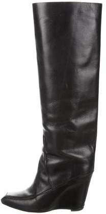 Alexander Wang Leather Wedge Boots