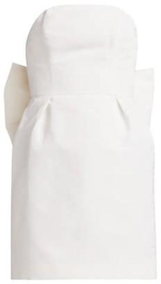 Alexia Maria Silk Faille Bow-Back Mini Dress