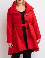 Charlotte Russe Plus Size Wool Blend Swing Coat