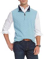 Daniel Cremieux Solid Cable Quarter-Zip Sweater Vest