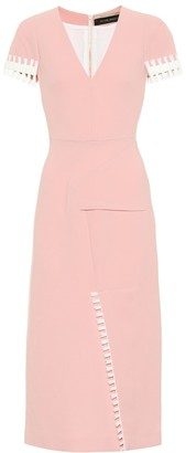 Roland Mouret Fortana wool crApe dress