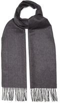Lanvin Bi-colour fringed cashmere scarf