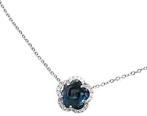 Pasquale Bruni 18K White Gold Ton Joli - Je T'aime London Blue Topaz Pendant Necklace, 17