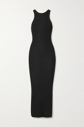Totême Espera Ribbed-knit Maxi Dress - Black