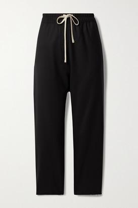 Nili Lotan Aida Cropped Virgin Wool-blend Twill Tapered Pants - Black
