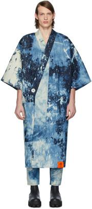 S.R. STUDIO. LA. CA. Indigo SOTO Hand-Bleached Denim Long Kimono