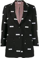 Thom Browne embroidered label blazer