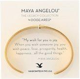 "Dogeared Maya Angelou 2.0 ""Peace, Love, Prosperity."" Medium Engraved Cuff Bracelet"