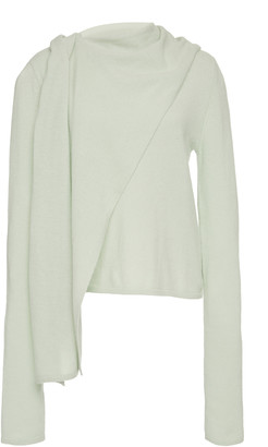 LAPOINTE Draped Cashmere Sweater