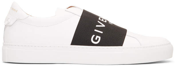 Givenchy White and Black Elastic Urban Street Knots Sneakers