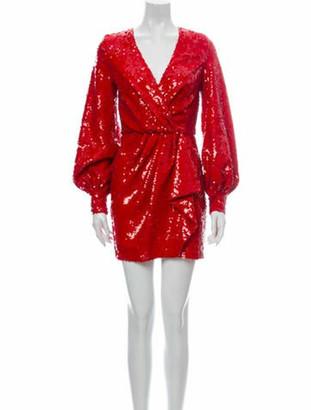 Amen V-Neck Mini Dress Red