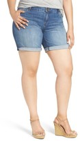 KUT from the Kloth Plus Size Women's Catherine Denim Boyfriend Shorts