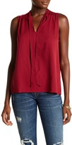 Lucky Brand Tie Neck Shell Blouse