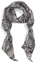 Sole Society Women's Graphic Palm Skinny Scarf