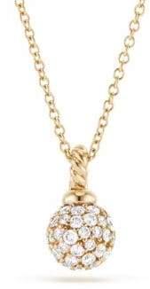 David Yurman Solari Diamond Gold Pendant Necklace