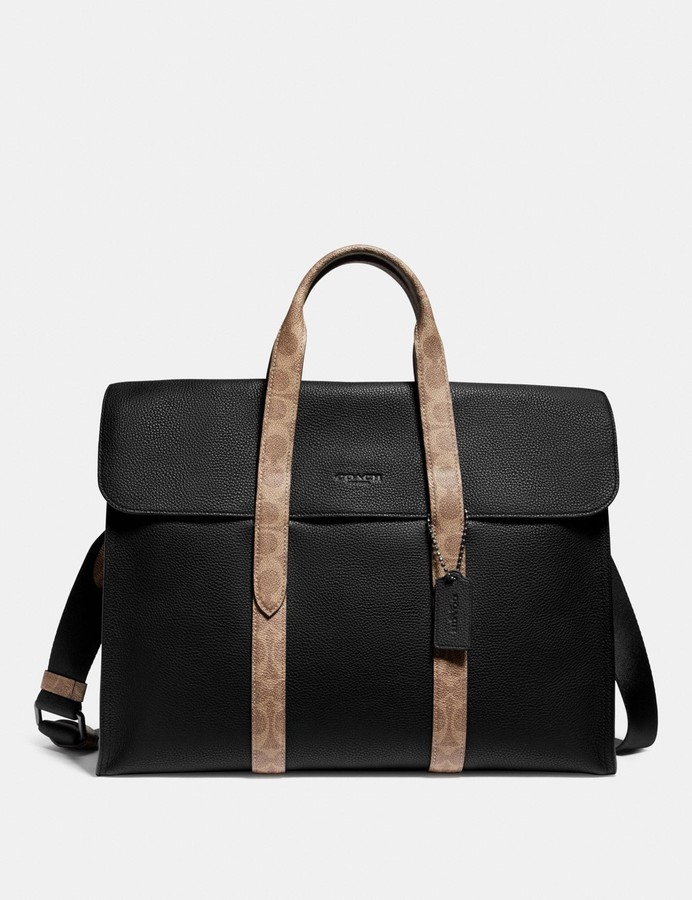 Coach Metropolitan Portfolio With Signature Canvas Blocking