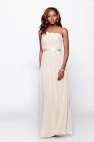 Milano Formals - One Shoulder Shirred Chiffon Goddess Long Dress E1420
