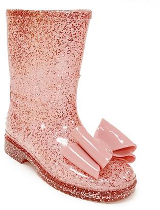 Jelly Beans Girls' Rain boots ROSEGOLD - Rose Gold Tai Rain Boot - Girls