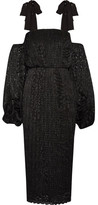 Rebecca Vallance Pulitzer Cutout Plissé-lace Dress