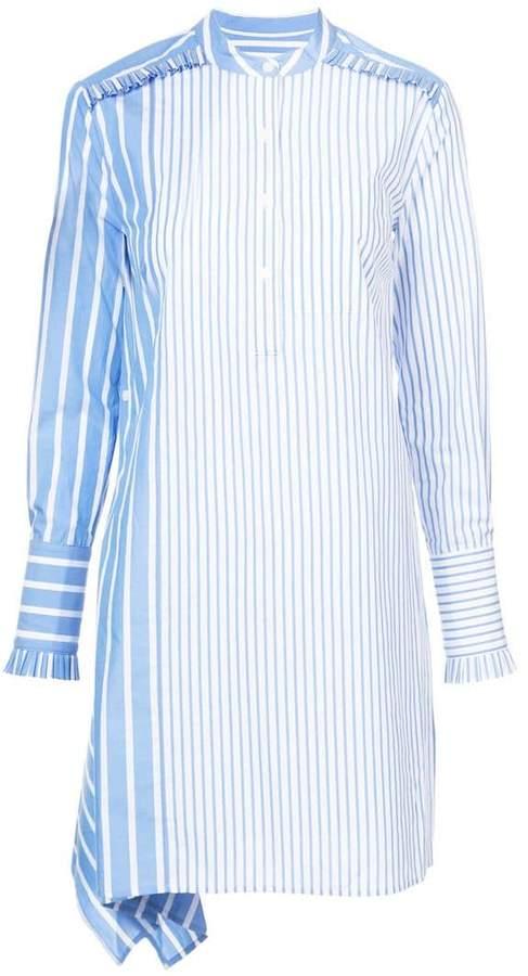 Derek Lam 10 Crosby Asymmetrical Shirtdress With Ruffle Detail
