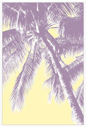 Jonathan Bass Studio Retro Palms 3, Decorative Framed Hand Embellished