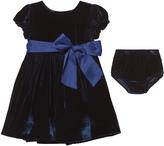 Ralph Lauren Navy Velvet Dress with Briefs