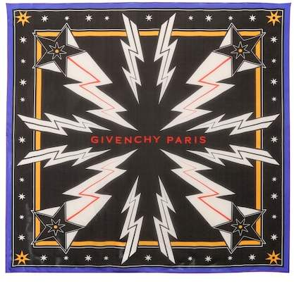 Givenchy Star=printed silk scarf
