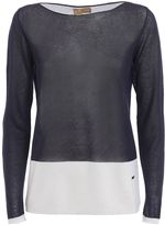 Fay Sheer Long Sleeved Boatneck