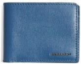 Burberry Men's 'New London' Bifold Calfskin Leather Wallet - Blue
