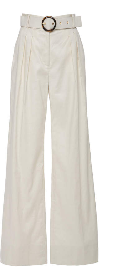 eaa9562cfb5 White Linen Trousers Lined - ShopStyle UK