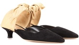 The Row Coco suede mules