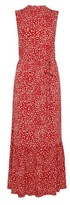 Dorothy Perkins Womens Red Smock Jersey Midi Dress, Red