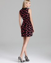 Milly Dress - Kiss Print Leather Collar