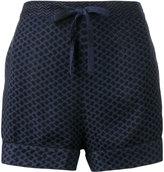 Cecilie Copenhagen - keffiyeh print short shorts - women - Viscose - 1