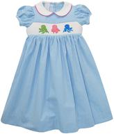 Blue Octopus Smocked Dress - Infant Toddler & Girls
