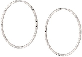 Maria Black 14kt white gold Liv 25 hoop earrings