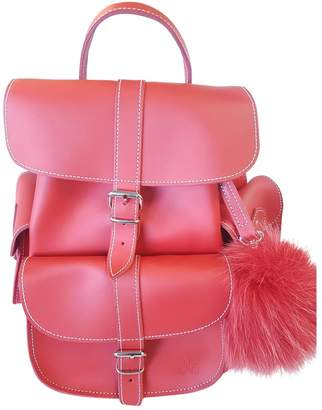 Grafea Red Leather Backpacks