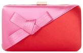 Dune Berklay Bow Colour Block Clutch Bag, Red