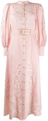 Zimmermann lace insert shirt dress
