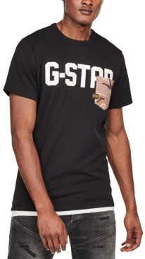 G Star Men's Camo Pocket Logo T-Shirt, Created for Macy's