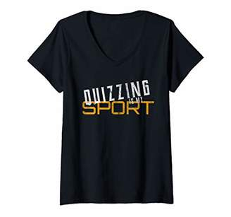 Womens Quizzing Is My Sport Quiz Bowl Gift V-Neck T-Shirt
