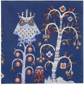 Iittala Set of 20 Blue Taika Paper Napkins