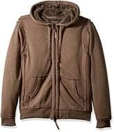 True Grit Men's Slub Cotton Zip Hood Jacket With Soft Plush Interior