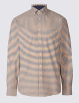 Marks and Spencer Luxury Stretch Oxford Checked Shirt
