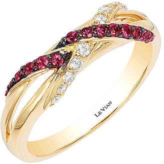 LeVian Le Vian 14K 0.30 Ct. Tw. Diamond & Ruby Ring