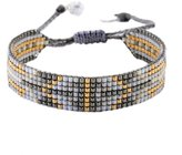 Mishky Beaded Friendship-style Bracelet with Adjustable Closure