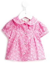 Cashmirino - Printed puff sleeve top - kids - Cotton - 3 mth